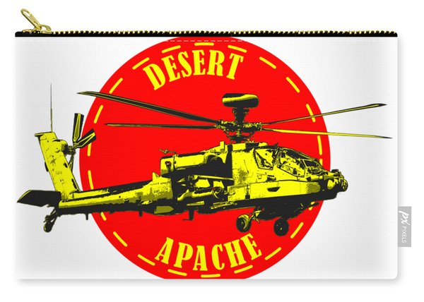 Apache On Desert Carry-all Pouch