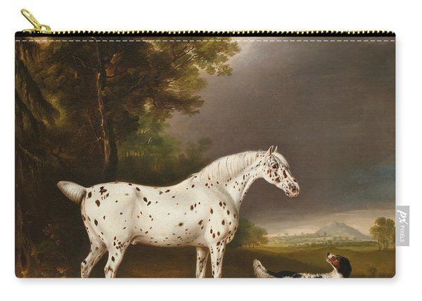Appaloosa Horse And Spaniel Carry-all Pouch