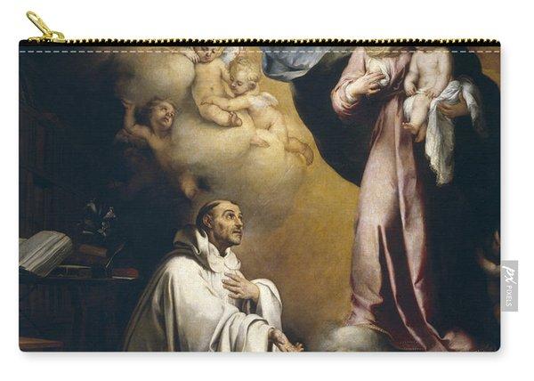 Apparition Of The Virgin To Saint Bernardo  Carry-all Pouch