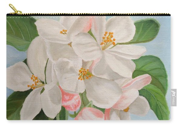 Carry-all Pouch featuring the painting Apple Blossom by Angeles M Pomata