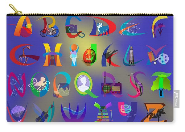 Apple To Zebra - Illustrated Alphabet Carry-all Pouch