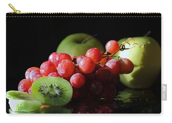 Apples, Grapes And Kiwi  Carry-all Pouch