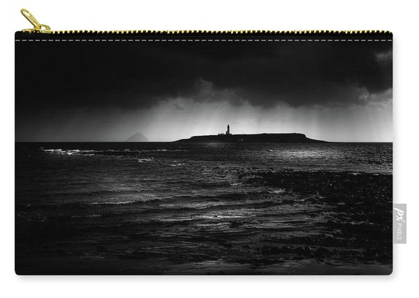 Approaching Storm, Ailsa Craig And Pladda Island Carry-all Pouch