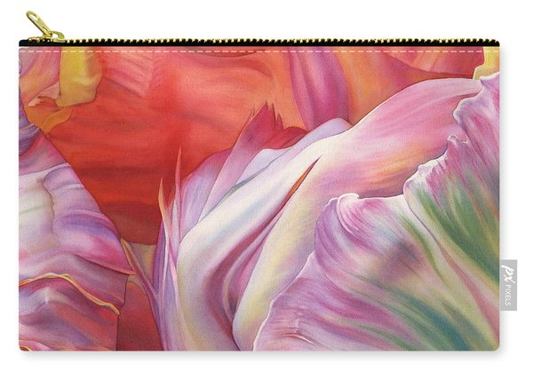 Apricot Parrot Tulip Carry-all Pouch