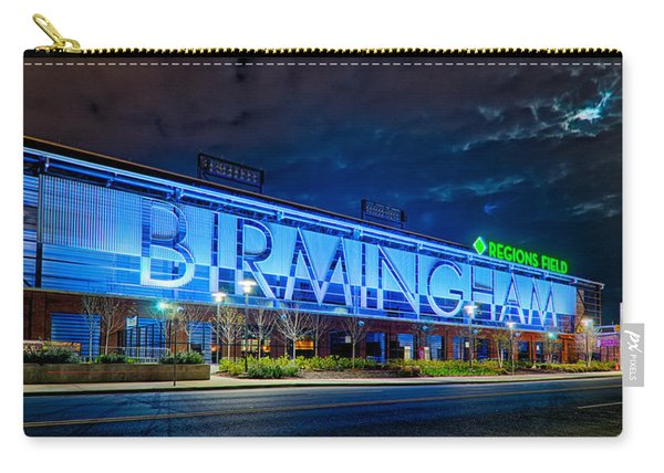 April 2015 -  Birmingham Alabama Baseball Regions Field At Night Carry-all Pouch