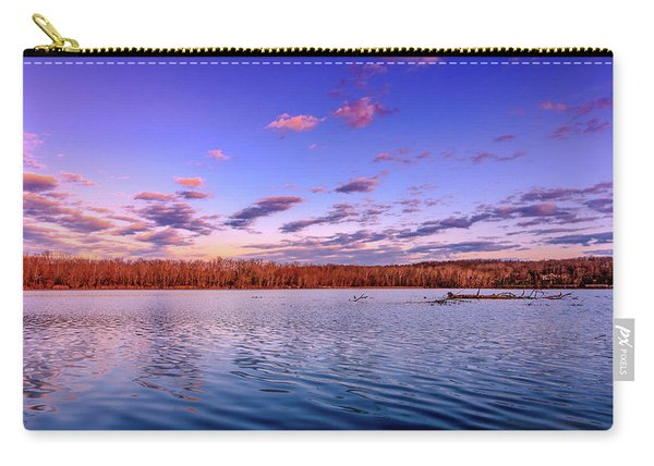 Carry-all Pouch featuring the photograph April Evening At The Lake by Allin Sorenson
