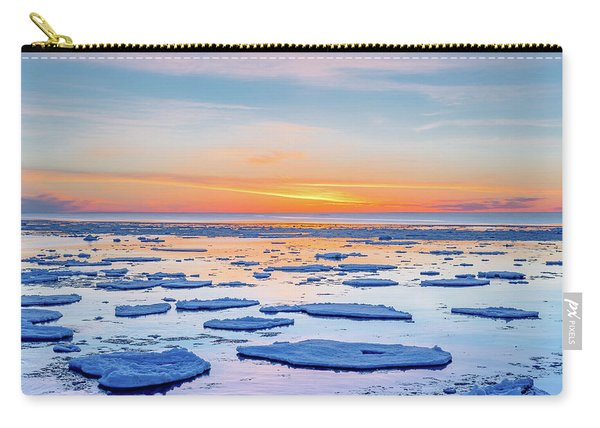 April Sunset Over Lake Superior Carry-all Pouch