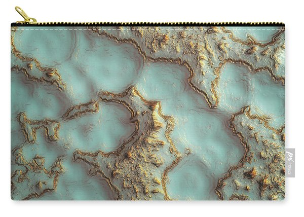 Aqua Coral Reef Abstract Carry-all Pouch