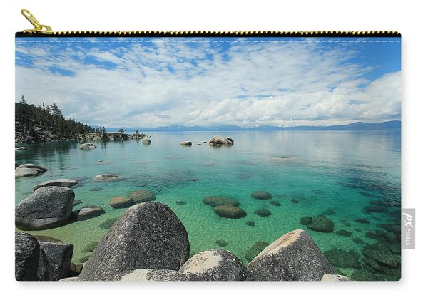 Carry-all Pouch featuring the photograph Aqua Heaven by Sean Sarsfield