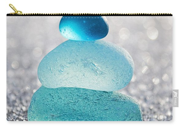 Aquamarine Ice Carry-all Pouch