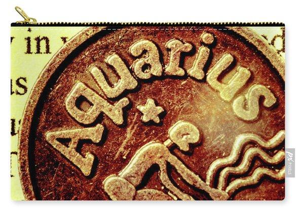 Aquarius Zodiac Sign Carry-all Pouch