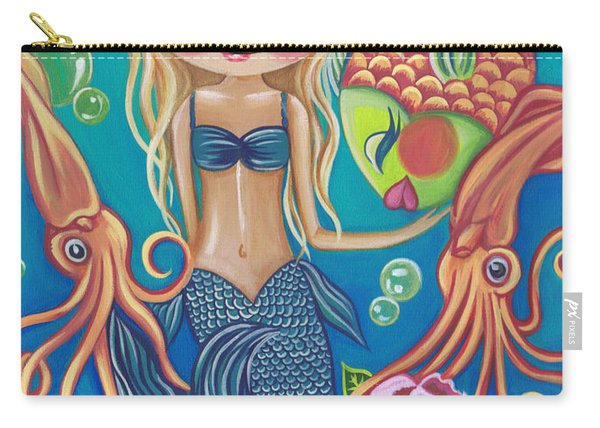 Aquatic Mermaid Carry-all Pouch