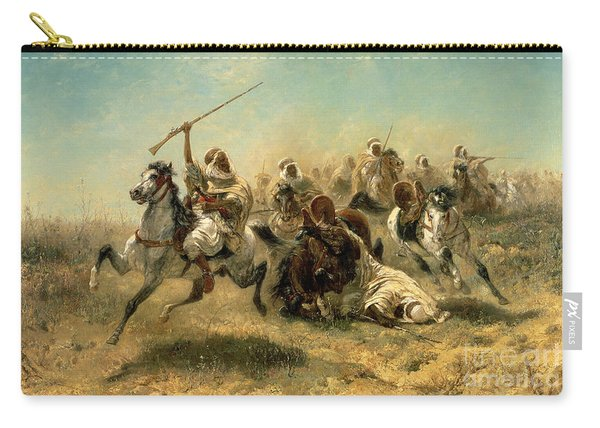 Arab Horsemen On The Attack Carry-all Pouch