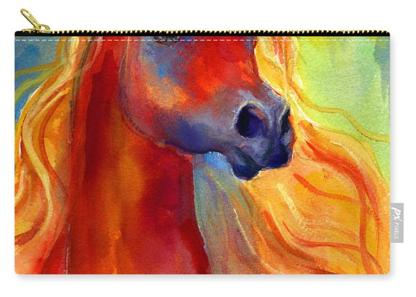 Arabian Horse 5 Painting Carry-all Pouch
