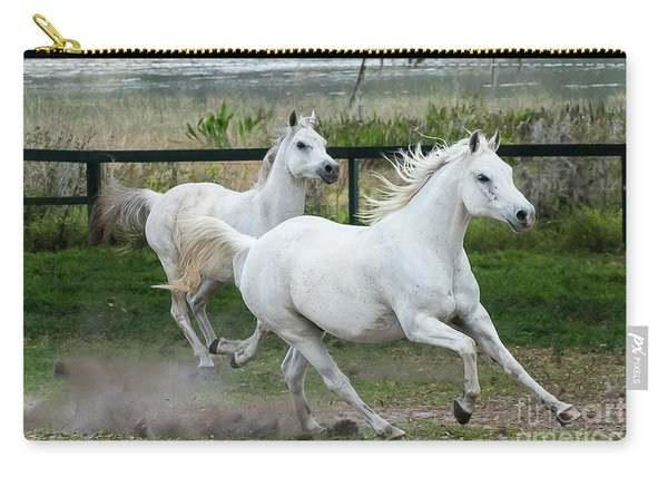 Arabian Horses Running Carry-all Pouch