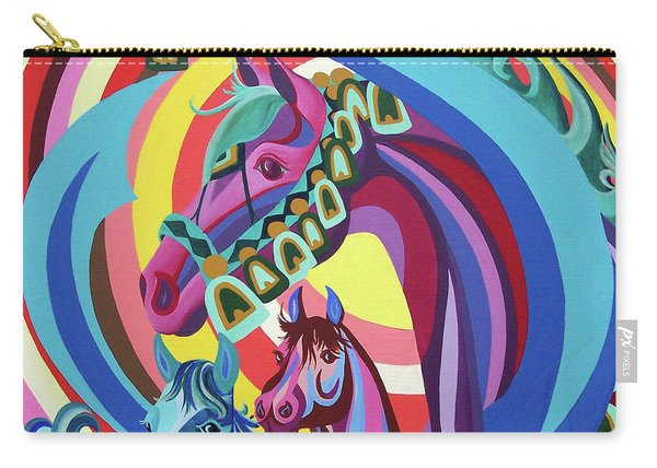 Carry-all Pouch featuring the painting Arabian Sons by Nancy Cupp