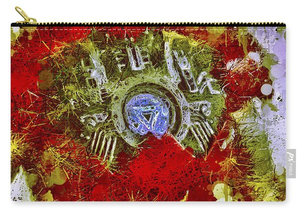 Carry-all Pouch featuring the mixed media Iron Man 2 by Al Matra