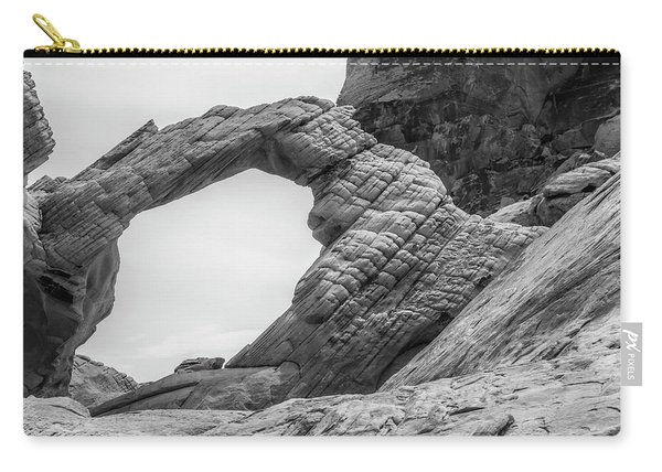 Arch Rock Black And White Carry-all Pouch