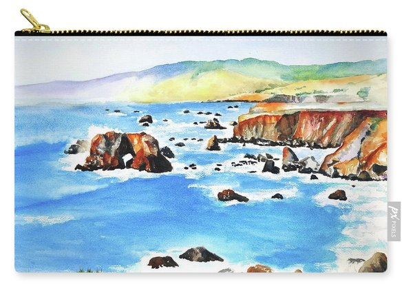 Arched Rock Sonoma Coast California Carry-all Pouch