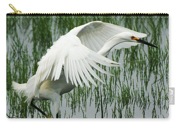 Carry-all Pouch featuring the photograph Arched Wings by William Selander