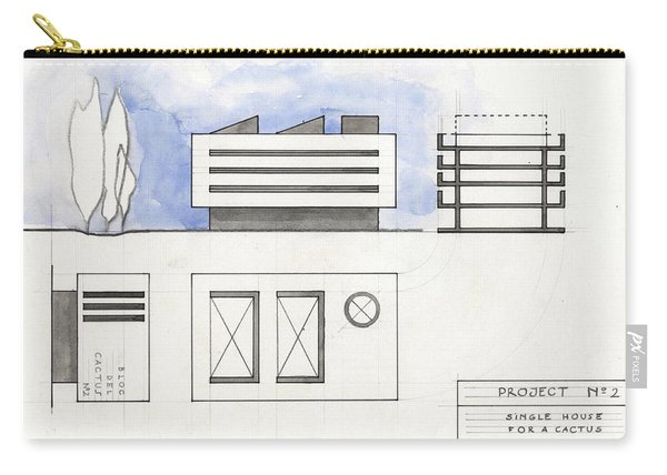 Architectural Drawing Carry-all Pouch