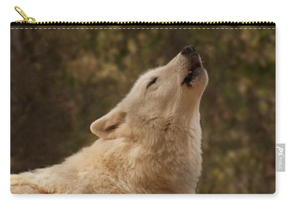 Arctic Wolf Howling Carry-all Pouch
