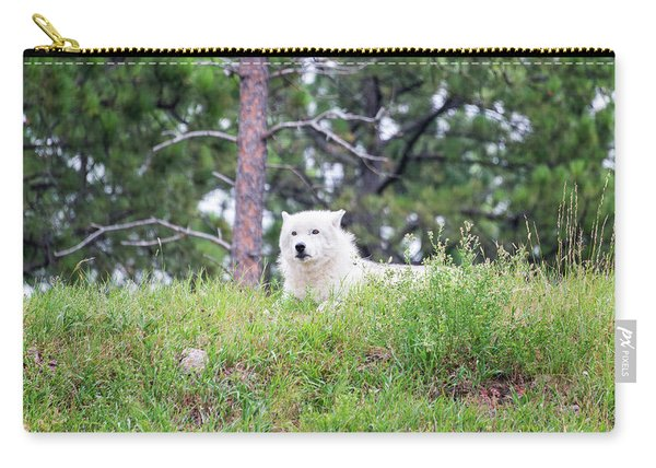 Arctive Wolf Lying Down Carry-all Pouch