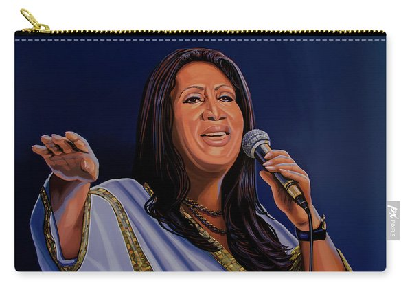 Aretha Franklin Painting Carry-all Pouch