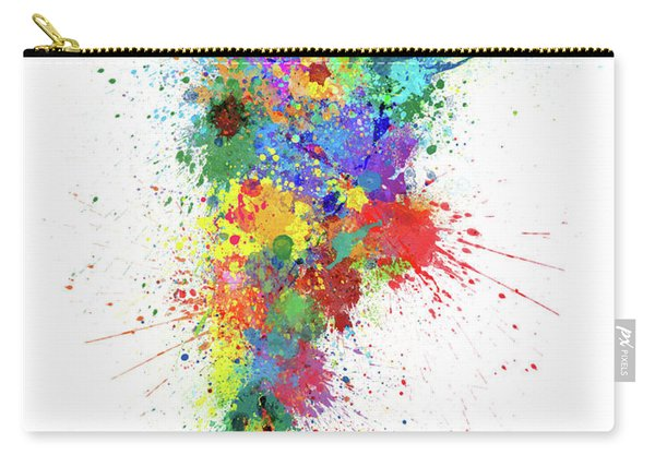 Argentina Paint Splashes Map Carry-all Pouch