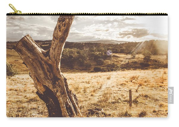 Arid Tasmania Bush Landscape Carry-all Pouch