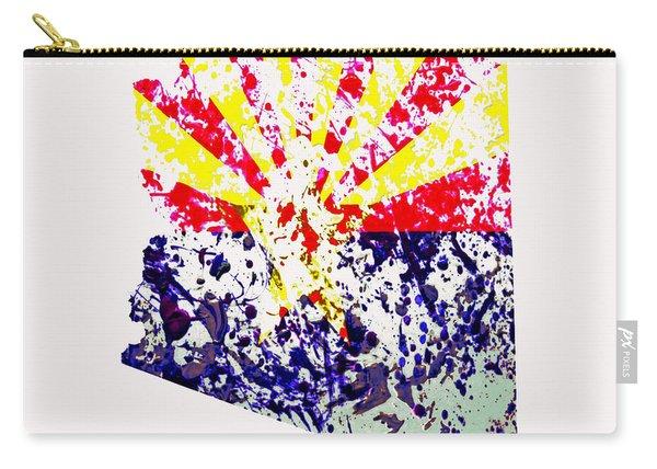 Arizona Paint Splatter Carry-all Pouch