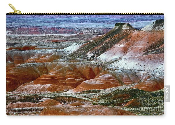 Carry-all Pouch featuring the photograph Arizona's Painted Desert by Susan Warren