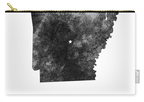 Arkansas State Map Art - Grunge Silhouette Carry-all Pouch