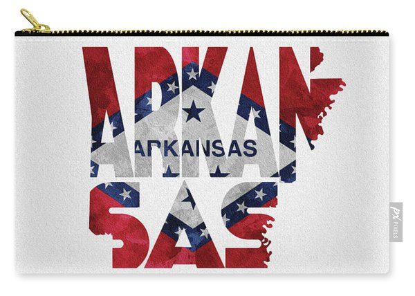 Arkansas Typographic Map Flag Carry-all Pouch