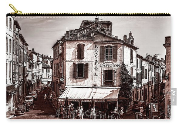 Arles, France, In Sepia Carry-all Pouch