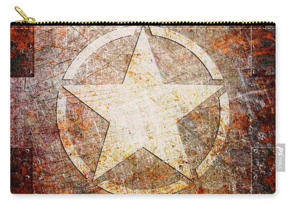 Army Star On Rust Carry-all Pouch