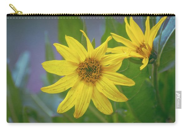 Carry-all Pouch featuring the photograph Arrowleaf Balsamroot by Jason Coward