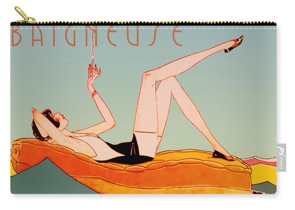 Art Deco Beach Bather Carry-all Pouch