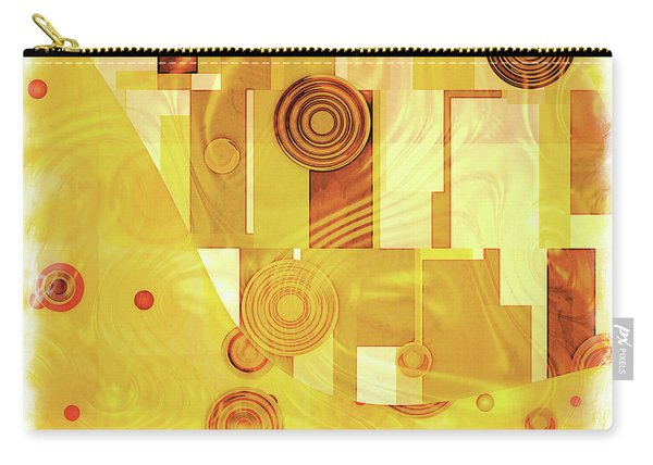 Art Deco Yellow Carry-all Pouch