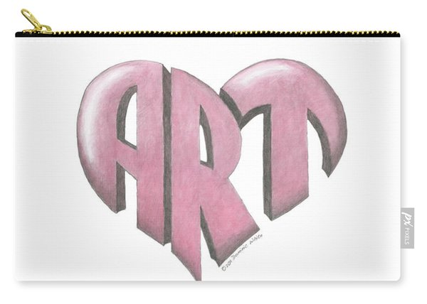 Art Heart Carry-all Pouch