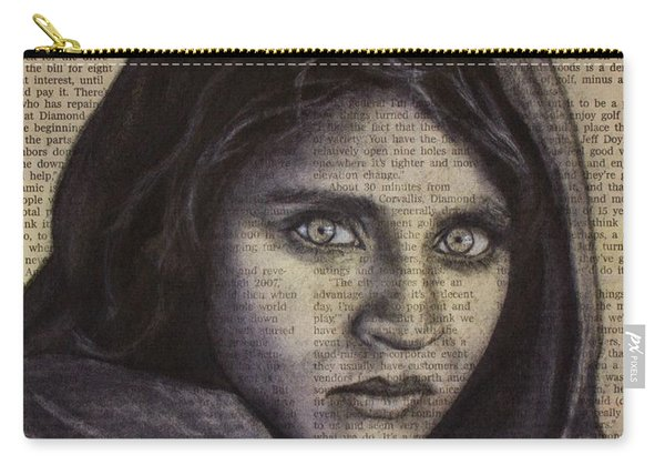 Art In The News 64-afghan Girl Carry-all Pouch