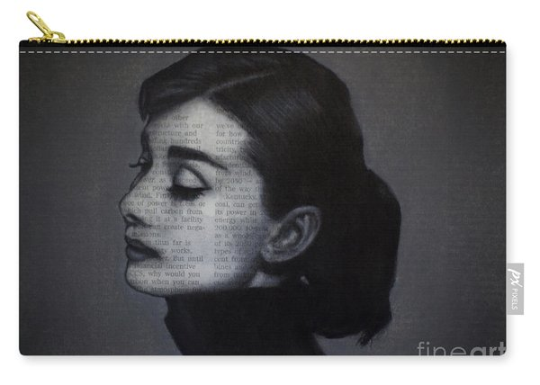 Art In The News 98-audrey Hepburn Carry-all Pouch