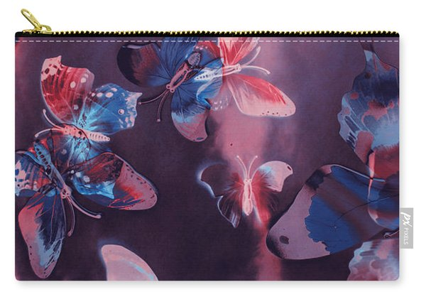 Artistic Colorful Butterfly Design Carry-all Pouch