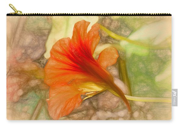 Artistic Red And Orange Carry-all Pouch