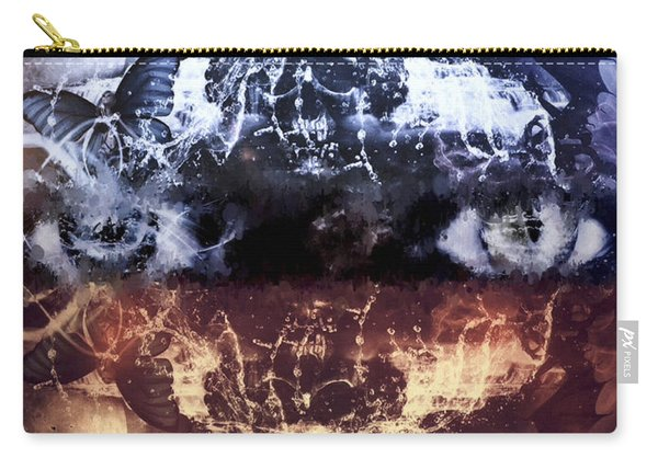 Carry-all Pouch featuring the mixed media Artist's Vision by Al Matra