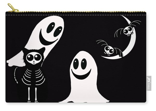 Halloween Bats Ghosts And Cat Carry-all Pouch