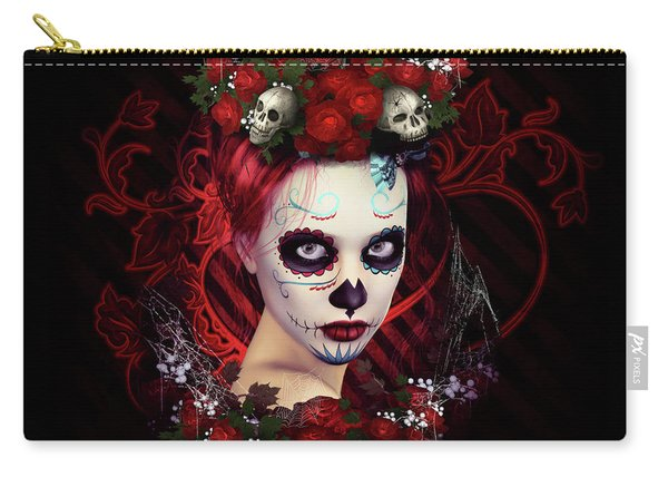 Sugar Doll Red Carry-all Pouch