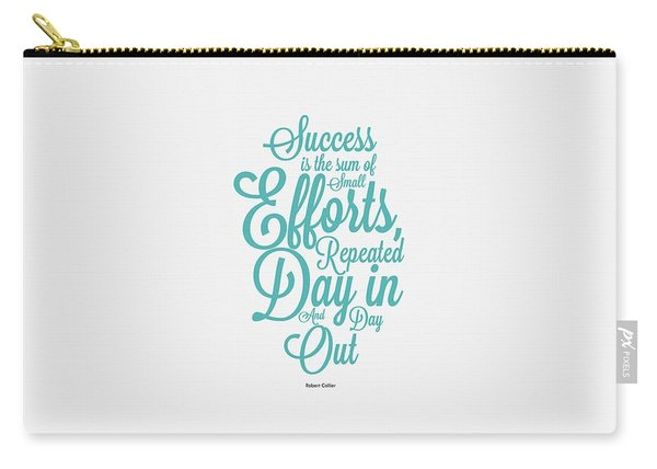 Success Inspirational Quotes Poster Carry-all Pouch