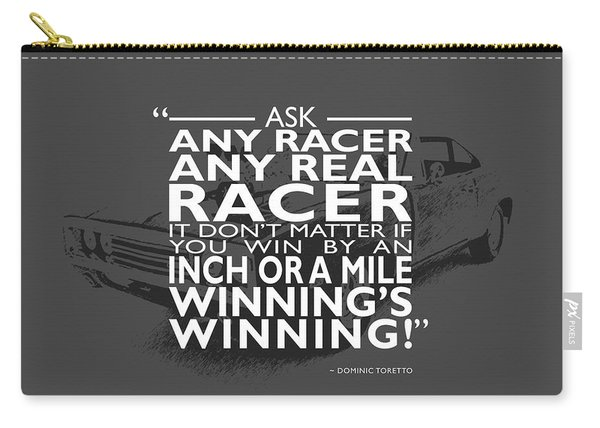 Ask Any Racer Carry-all Pouch