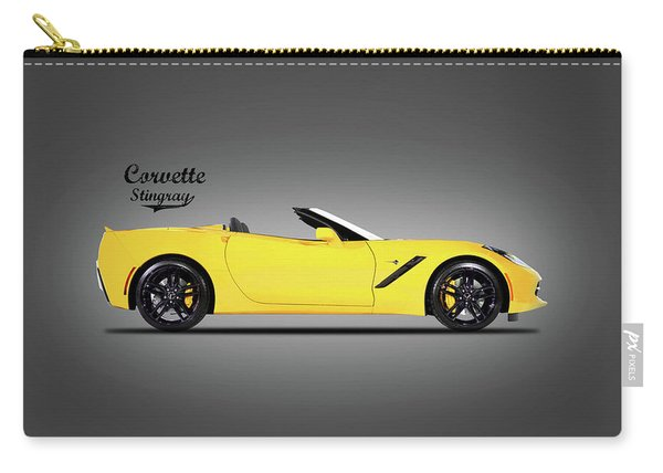 Corvette In Yellow Carry-all Pouch